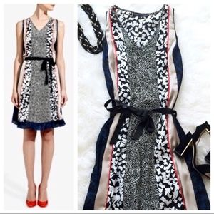 Forenza Multi Patterned V Neck Dress XS